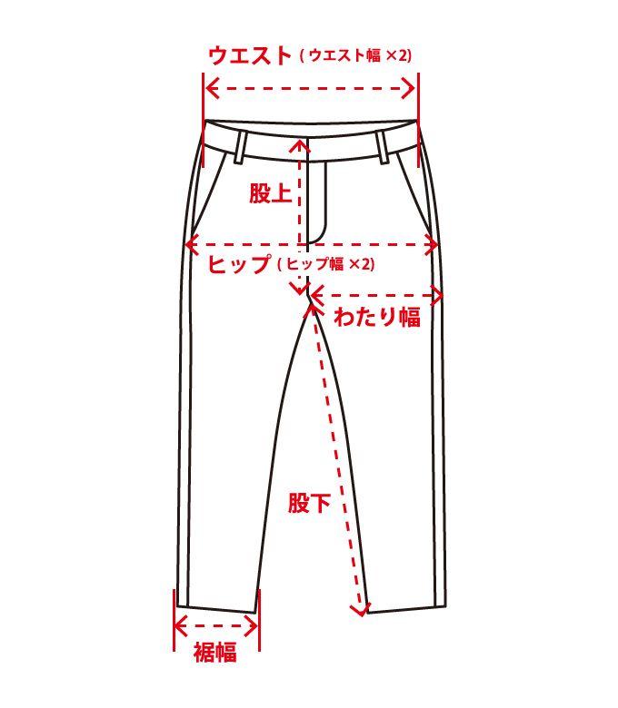 パンツ サイズ計測
