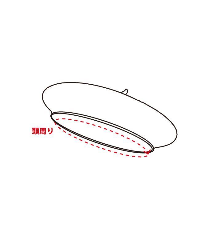 ベレー帽 サイズ計測