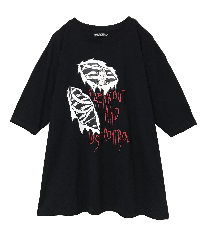 BONE七分袖ビッグTシャツ